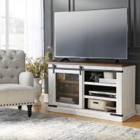 Wystfield White/Brown Medium TV Stand