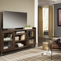 Starmore Brown/Gunmetal XL TV Stand with Fireplace Option