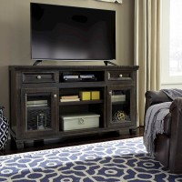 Townser Grayish Brown LG TV Stand with FRPL/Audio OPT