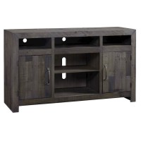 Mayflyn Charcoal LG TV Stand with Fireplace Option
