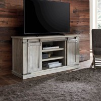 Carynhurst Whitewash Large TV Stand