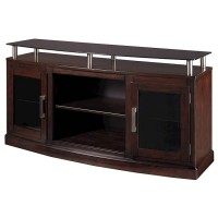 Chanceen Dark Brown Medium TV Stand/Fireplace OPT