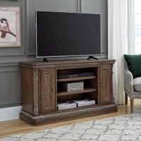 Charmond Brown LG TV Stand with Fireplace Option
