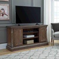 Charmond Brown XL TV Stand with Fireplace Option
