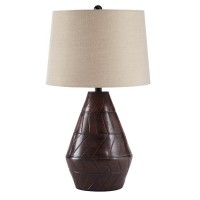 Nelina Reddish Brown Terracotta Table Lamp (Includes 1)