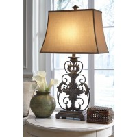 Sallee Gold Finish Poly Table Lamp (Includes 1)