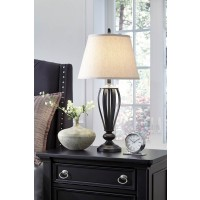Mildred Bronze Finish Metal Table Lamp (Includes 2)