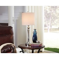 Taji Chrome Finish Metal Table Lamp (Includes 2)