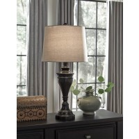 Darlita Bronze Finish Metal Table Lamp (Includes 2)
