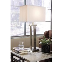 Aniela Silver Finish Metal Table Lamp (Includes 2)