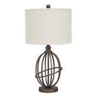 Manasa Bronze Finish Metal Table Lamp (Includes 1)