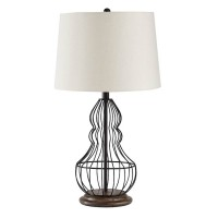 Maconaque Black Metal Table Lamp (Includes 2)