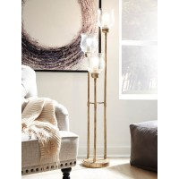 Emmie Antique Gold Finish Metal Floor Lamp (Includes 1)