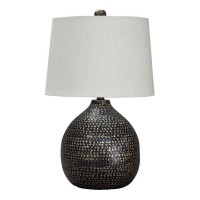 Maire Black/Gold Finish Metal Table Lamp (Includes 1)