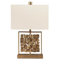 Evera Antique Gold Finish Metal Table Lamp (Includes 1)