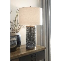 Dayo Gray/Gold Finish Metal Table Lamp (Includes 1)