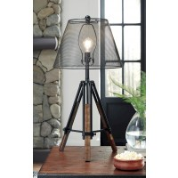 Leolyn Black/Brown Metal Table Lamp (Includes 1)