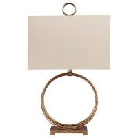 Mahala Antique Gold Finish Metal Table Lamp (Includes 1)