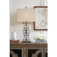 Calidora Antique Copper Finish Metal Table Lamp (Includes 1)
