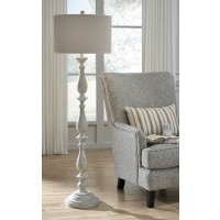 Bernadate Whitewash Poly Floor Lamp (Includes 1)