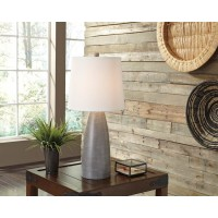 Shavontae Gray Poly Table Lamp (Includes 2)