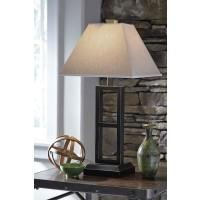 Deidra Black Metal Table Lamp (Includes 2)