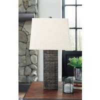 Mahak Black Wood Table Lamp (Includes 2)
