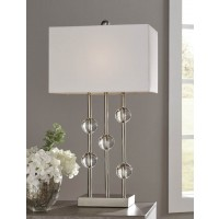 Jaala Clear/Silver Finish Metal Lamp (Includes 1)