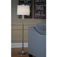 Joaquin Clear/Chrome Finish Crystal Floor Lamp (Includes 1)