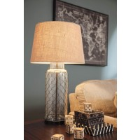 Sharmayne Transparent Glass Table Lamp (Includes 1)