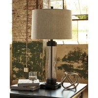 Talar Clear/Bronze Finish Glass Table Lamp (Includes 1)