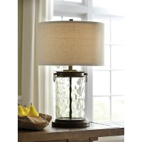 Tailynn Clear/Bronze Finish Glass Table Lamp (Includes 1)