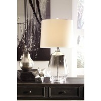 Jaslyn Silver Finish Glass Table Lamp (Includes 1)