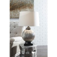 Cailan Silver/Bronze Finish Glass Table Lamp (Includes 1)