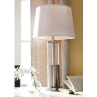 Norma Silver Finish Metal Table Lamp (Includes 2)