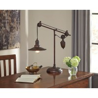 Kylen Bronze Finish Metal Desk Lamp (Includes 1)