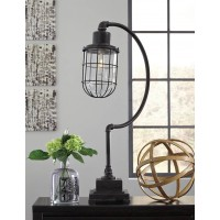 Jae Antique Black Metal Desk Lamp (Includes 1)