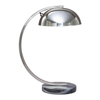 Haden Chrome Finish Metal Desk Lamp (Includes 1)
