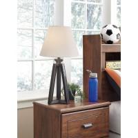 Sidony Metallic Gray Poly Table Lamp (Includes 1)