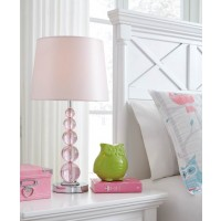 Letty Pink Crystal Table Lamp (Includes 1)