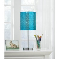 Maddy Teal/Silver Finish Metal Table Lamp (Includes 1)