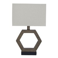 Marilu Gray/Brown Poly Table Lamp (Includes 1)