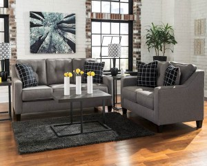 Brindon Charcoal Living Room Group