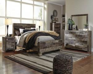 Derekson Multi Gray Bedroom Set