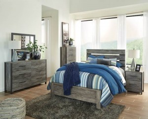 Cazenfeld Black/Gray Bedroom Set