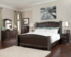 Vachel Dark Brown Bedroom Set