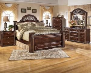 Gabriela Dark Reddish Brown Bedroom Set