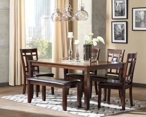 Bennox Brown Dining Room Set