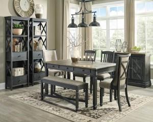 Tyler Creek Black/Gray Dining Room Set