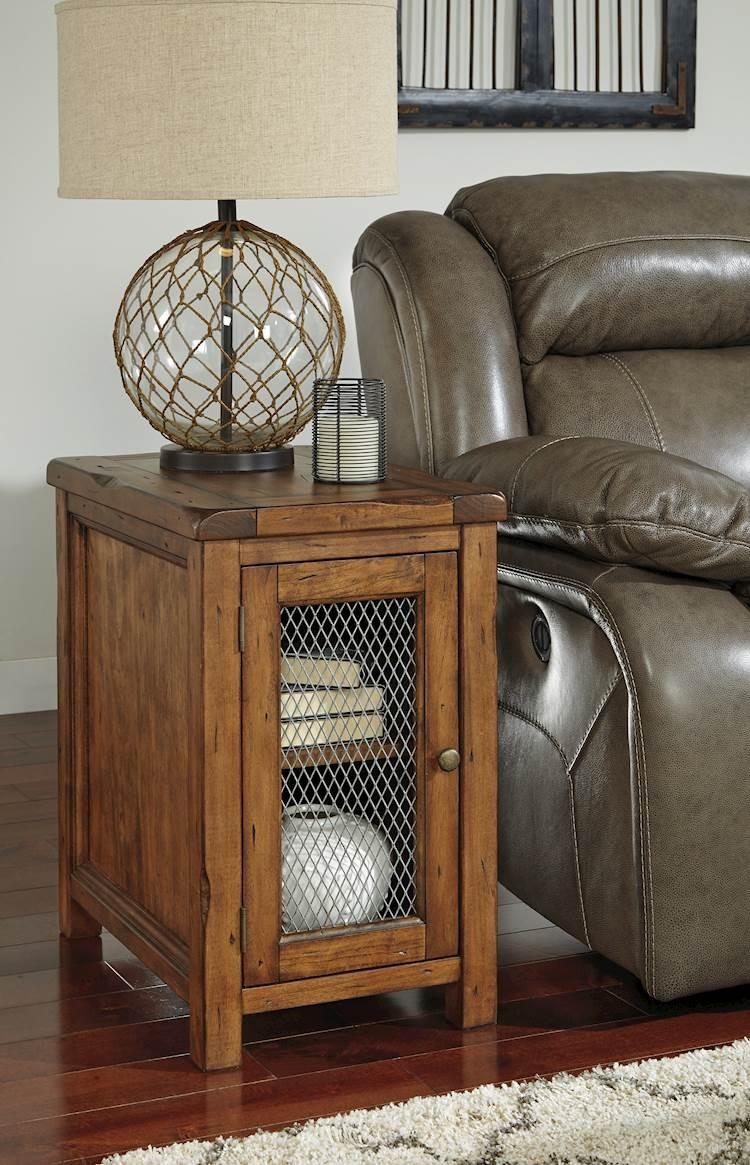 Tamonie Medium Brown Chair Side End Table